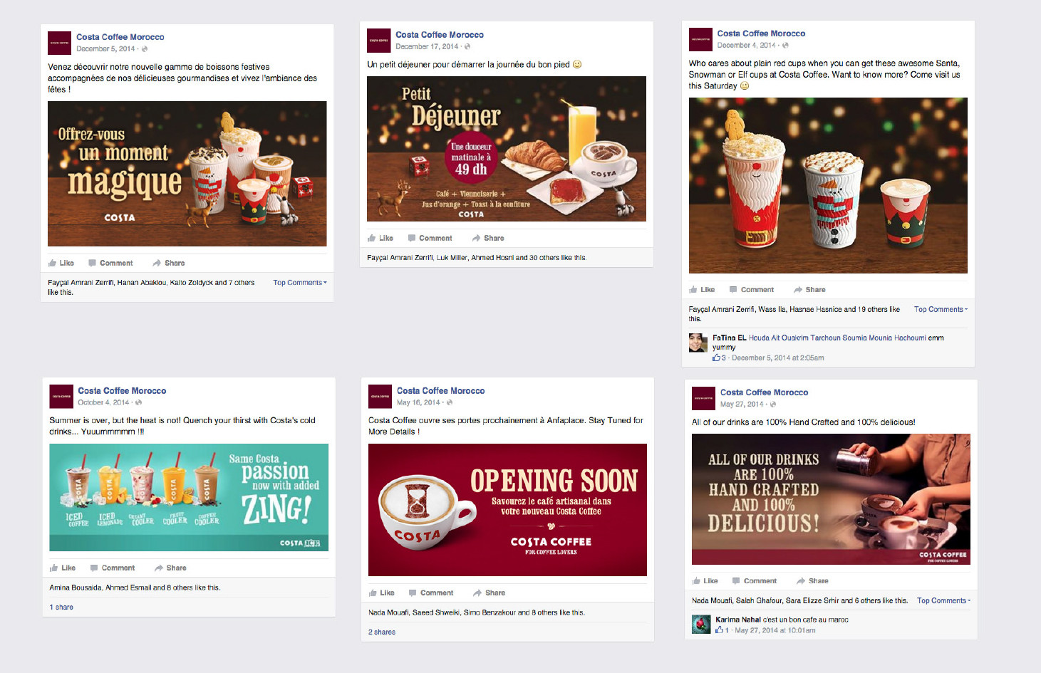 agence de communication Tournai - Costa COFFEE